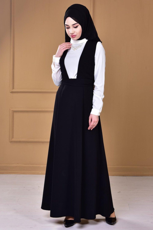 9731e97b31ab1 Sefamerve Siyah Gömlekli Jile Elbise | ElbiseBul