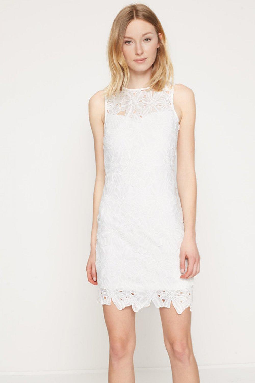 8005b437861d6 Koton Dantel Beyaz Mini Abiye Elbise | ElbiseBul