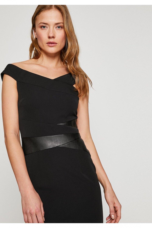 41b5a010b6e65 Koton Siyah Mini Abiye Elbise | ElbiseBul