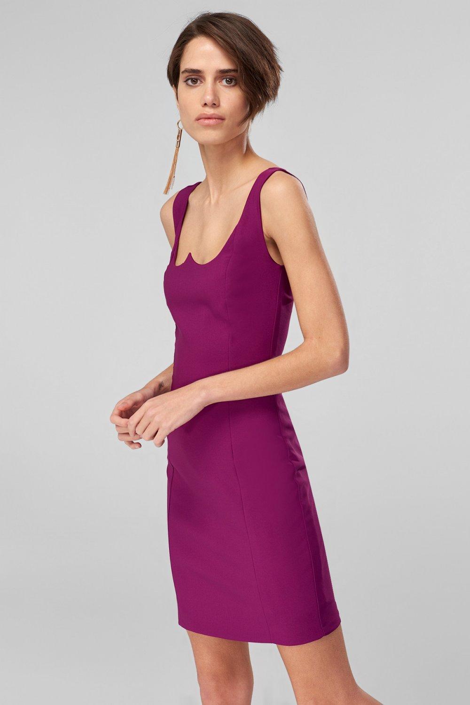450c3343f487a Trendyolmilla Askılı Mor Yaka Detaylı Mini Elbise | ElbiseBul