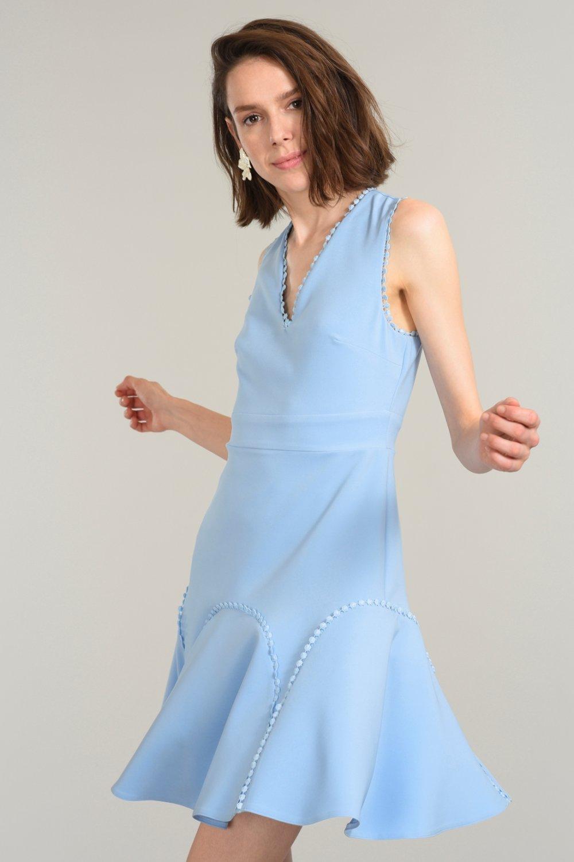 fae11164d785d People By Fabrika Açık Mavi Mini Elbise | ElbiseBul