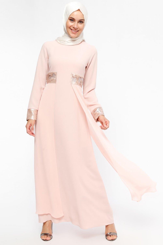 4ccb905bc4764 Loreen By Puane Pudra Payet Detaylı Abiye Elbise | ElbiseBul