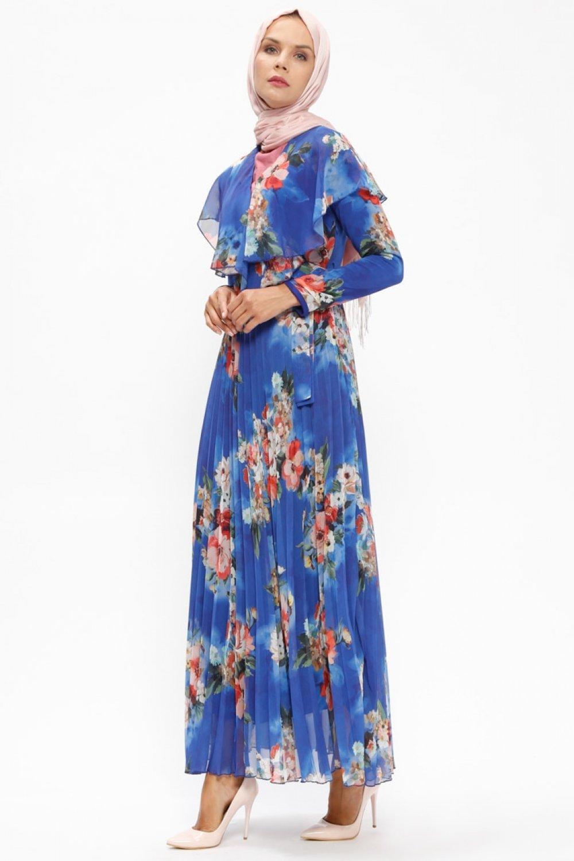 3a40251ecd2d3 Loreen By Puane Saks Çiçek Desenli Şifon Elbise | ElbiseBul