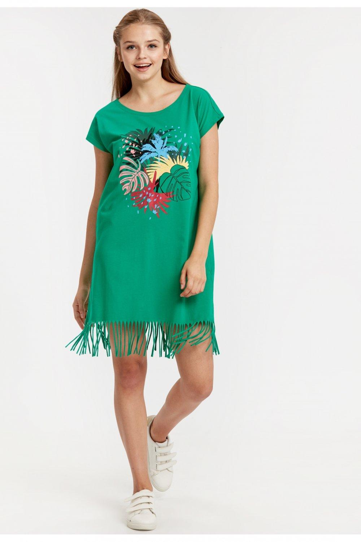 238ae4a2fc87b Lc Waikiki Emerald Green Mini Elbise   ElbiseBul