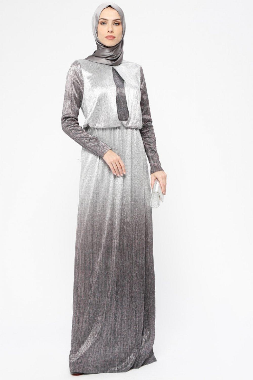 0dcf460db33dd Armine Siyah Simli Abiye Elbise | ElbiseBul