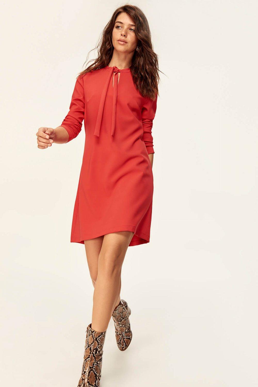 563a2e2a0cf06 Trendyolmilla Kırmızı Kesik Detaylı Mini Elbise   ElbiseBul