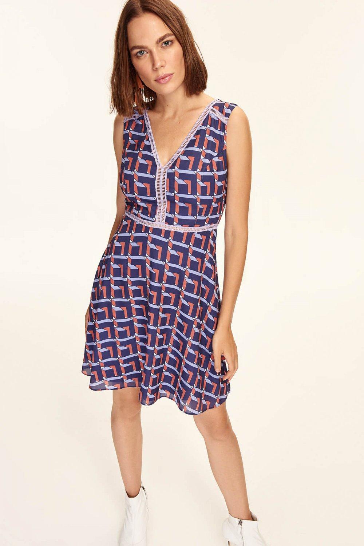 3b77372c2be3c Trendyolmilla Çok Renkli Desenli Mini Elbise | ElbiseBul