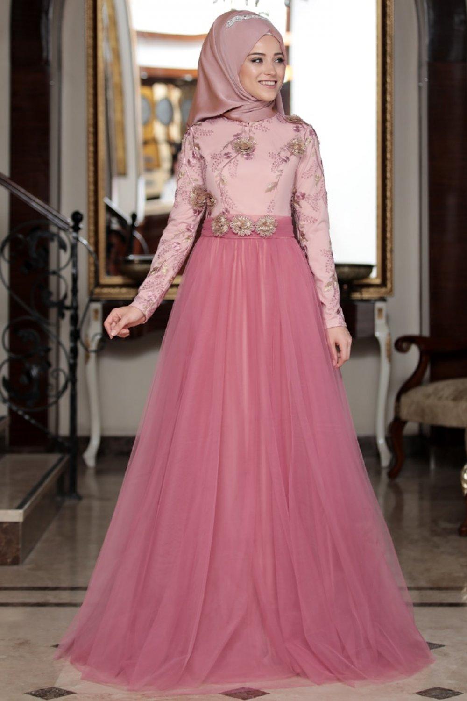 4ba0e155246a5 DressLife Gül Kurusu Su Abiye Elbise | ElbiseBul
