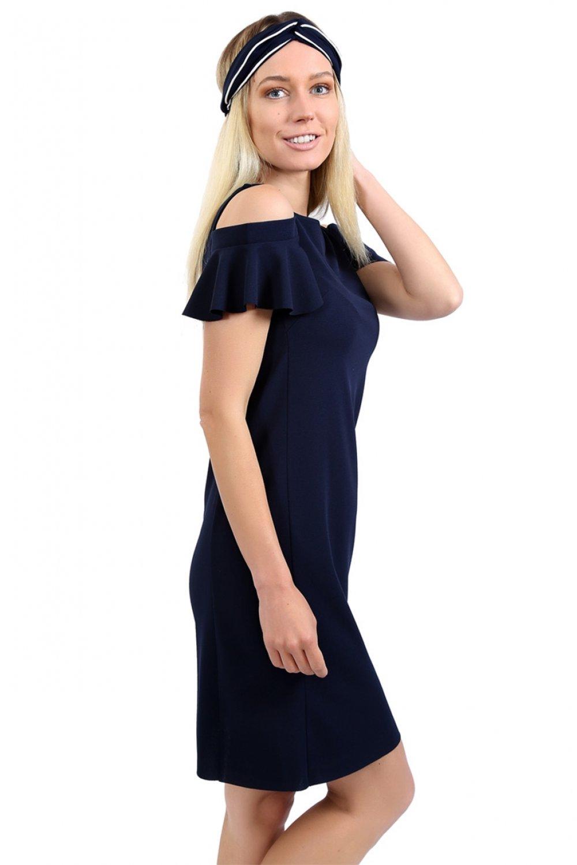 c496c0d238afd Lafaba Lacivert Mini Elbise | ElbiseBul