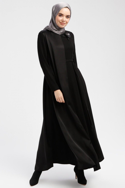 12f7460d46bee Armine Siyah Boncuk Payet Detaylı Elbise | ElbiseBul