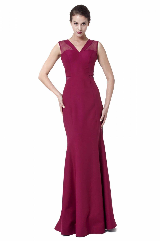 4f1d991aff715 Abiye Sarayı Mor Tül Detaylı Uzun Balık Abiye Elbise   ElbiseBul