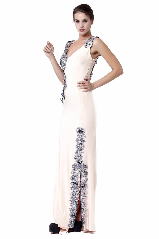 eb2cf04f47a3f Abiye Sarayı Pembe Omuz Ve Yırtmaç Çiçek Detaylı Uzun Abiye Elbise ...