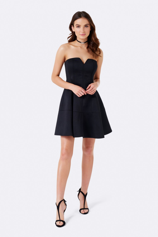 121065cc57e61 Forever New Dakota Siyah Straplez Balo Mini Abiye Elbise | ElbiseBul