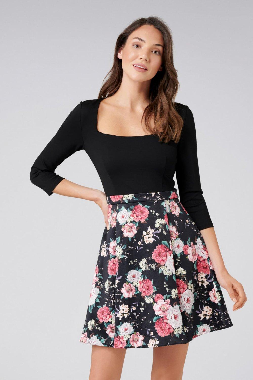 6eb26dfaa28f6 Forever New Çok Renkli Edie Çiçekli Mini Elbise | ElbiseBul
