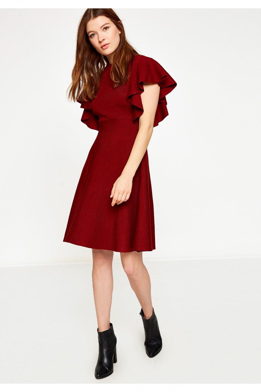 43e77c5175b05 Koton Bordo Mini Elbise | ElbiseBul