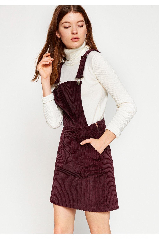 88be1550b759d Koton Askılı Bordo Mini Elbise | ElbiseBul