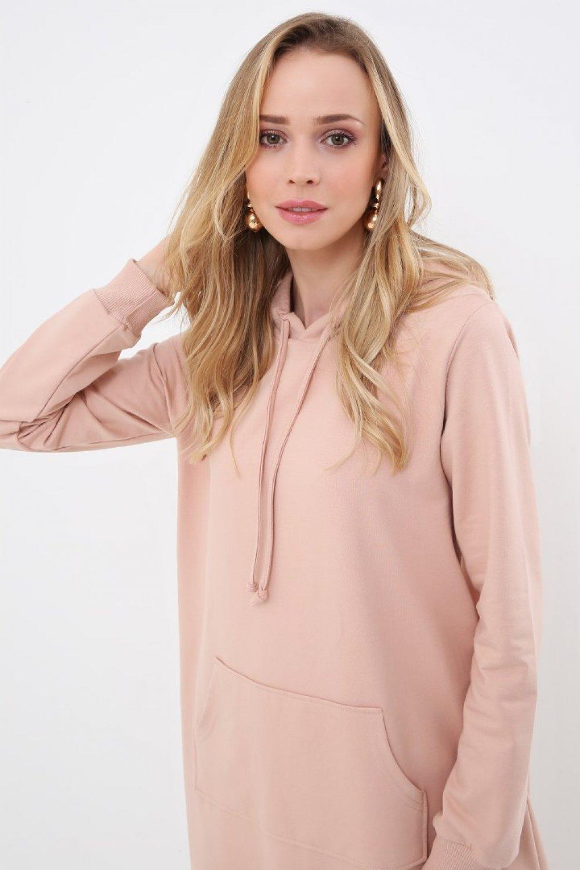 Everyday Basic Soft Pembe Düz Renk Spor Elbise