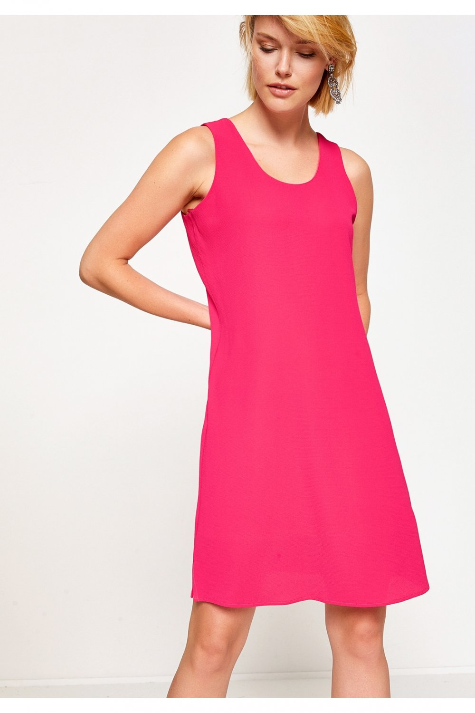 Koton Fuşya Mini Elbise