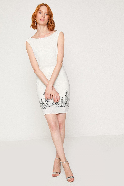 Koton Beyaz Mini Abiye Elbise
