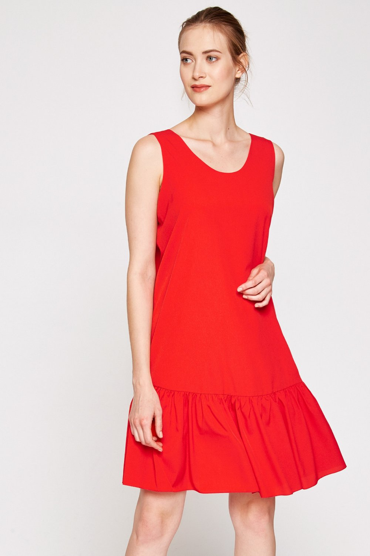 Koton Kırmızı 7YAK88087PW Mini Elbise