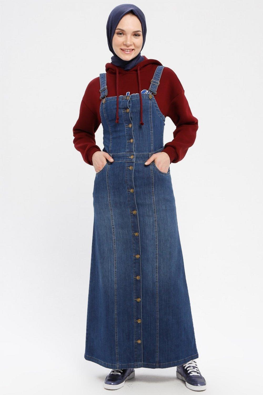 Neways Koyu Mavi Kolsuz Salopet Spor Elbise