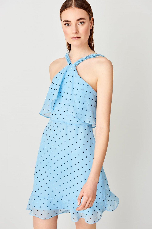Trendyolmilla Mavi Askılı Mini Elbise