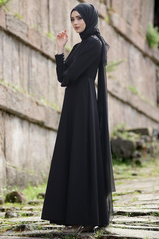 Nurbanu Kural Siyah Efil Abiye Elbise