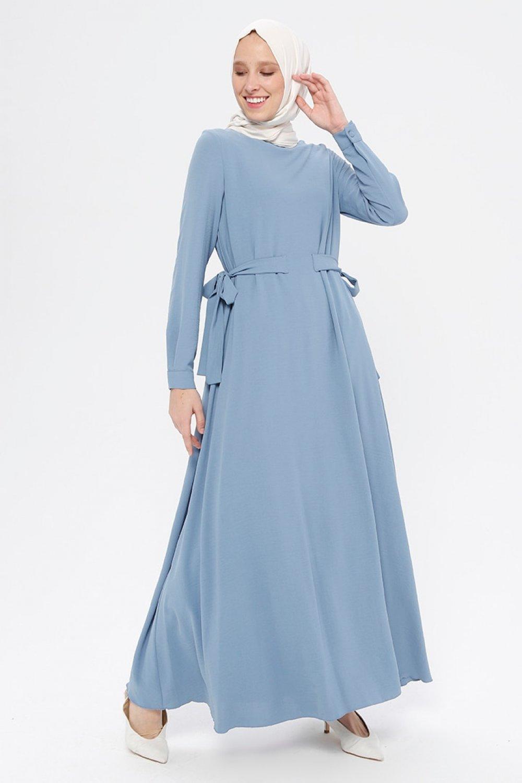 An-Nahar İndigo Mavi Aylin Elbise