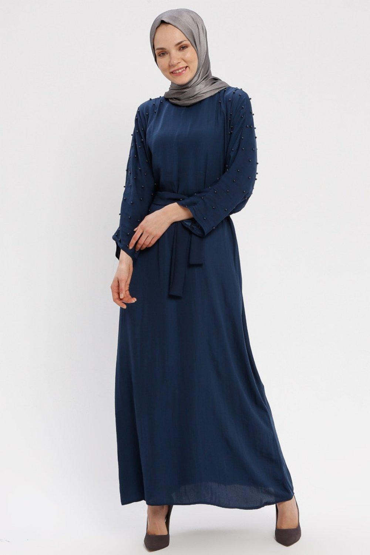 Tuncay Lacivert İncili Elbise