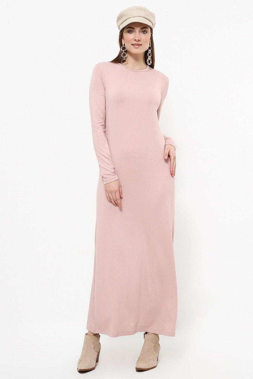 Everyday Basic Soft Pembe Doğal Kumaştan Basic Elbise
