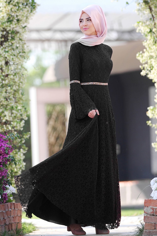 Nurkombin Siyah Nur Elbise