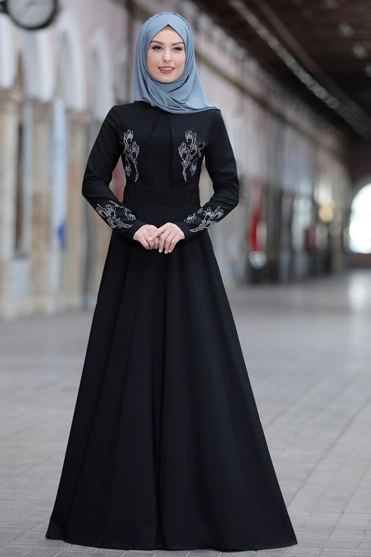 Rana Zenn Siyah Abiye Elbise