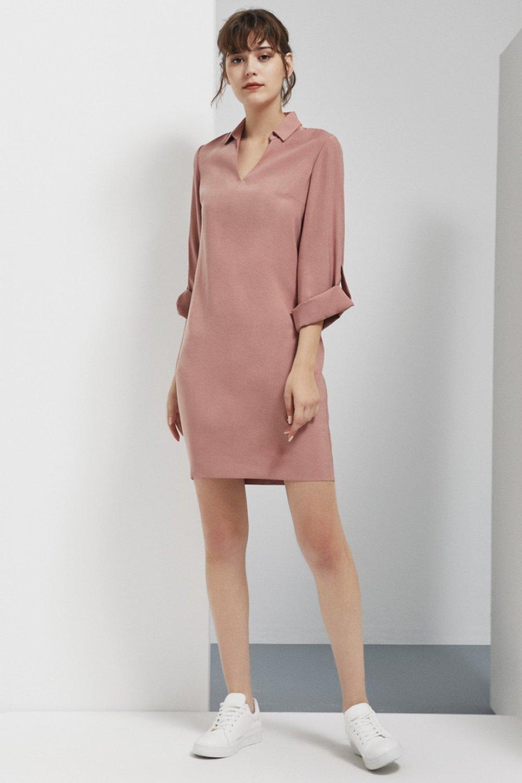 Perspective Pembe Akela Mini Elbise