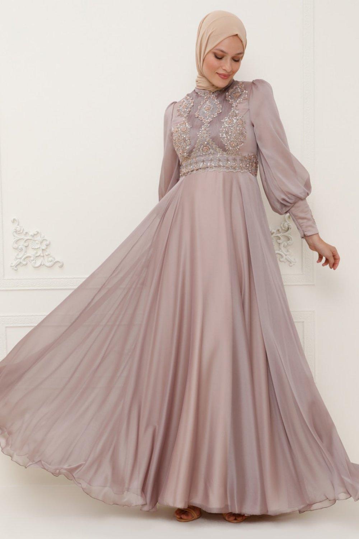 SomFashion Vizon Kayra Abiye Elbise