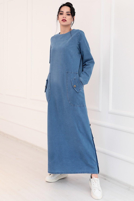 Piennar Mavi Rengin Kot Spor Elbise