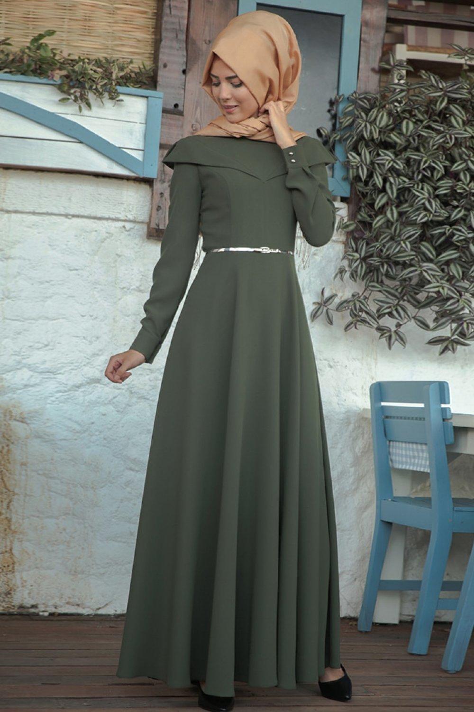 Nurkombin Haki Nefes Abiye Elbise