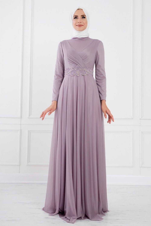 Moda Sinanlar Lila Lena Abiye Elbise
