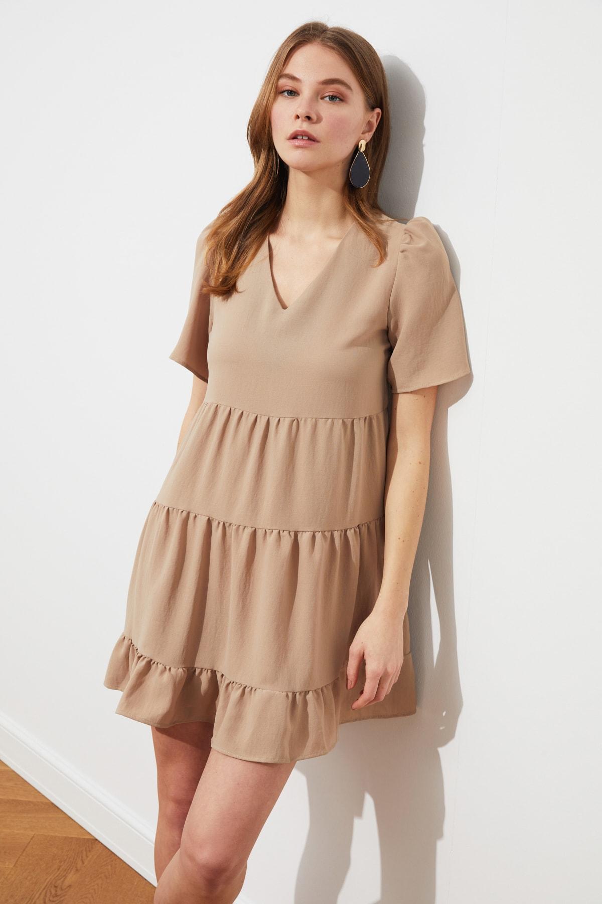 Trendyolmilla Taş Geniş Kesim Mini Elbise
